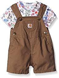 Carhartt Baby Boys' Brwon Shortall, Canyon Brown, 18 Months