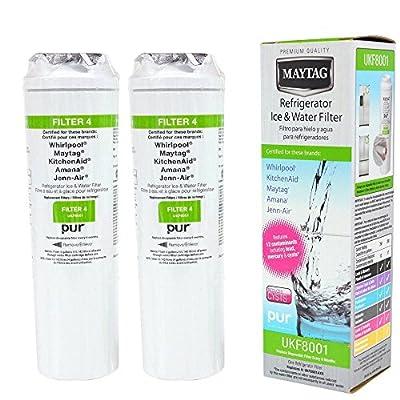 Maytag UKF8001, Filter 4, Refrigerator Water Filter (Set of 2) by FamilyNeed