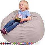 Oversized Bean Bag Chair in Sand Dune – Machine Washable Big Soft Comfort Cover & Memory Foam Filler – Cozy Lounger & Bed – Kids & Teens Love This Huge Sack – Indoor Furniture By Panda Sleep