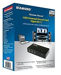 Diamond Multimedia USB 7.1 Surround Sound Audio Box/Cards XS71UV2