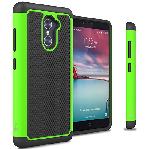 ZTE Grand X Max 2 Case, ZTE Max Duo LTE Case, CoverON® [HexaGuard Series] Slim Hybrid Hard Phone Cover Case for ZTE Grand X Max 2 / Max Duo LTE - Green Neon - Lte Grand X Max Cases