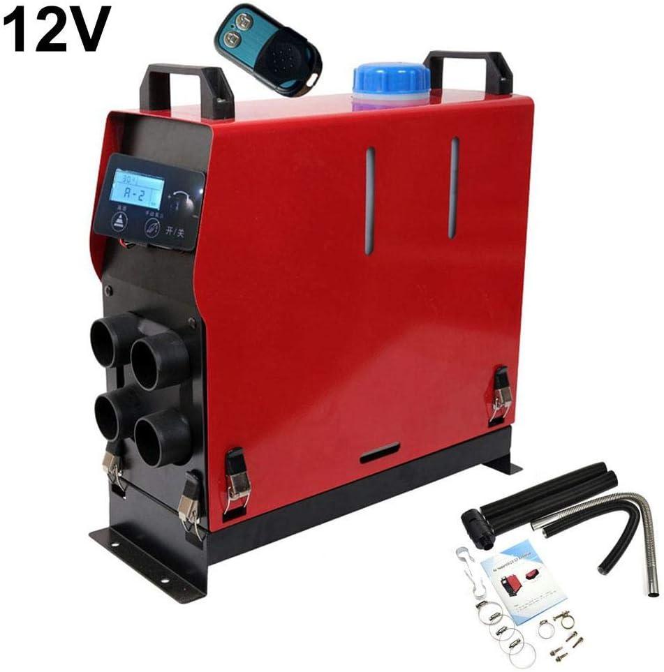 lennonsi 12V Diesel Kit De Chauffage /À Air 5KW Chauffage Dappoint Chauffage Forc/é Air Chaud Ventilateur pour Bateaux Voiture Fourgonnettes Camions