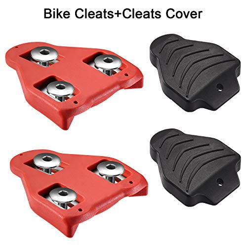 LANNIU Bike Cleats Set Compatible with Look Delta (9 Degree Float) Pedals, Road Bike Bicycle Cleats Set for Spinning, Indoor Cycling - Replacement Cleats Set