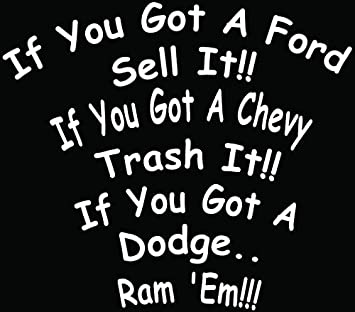 amazon ford chevy dodge ram it funny car truck window bumper Dodge Ram Background image unavailable