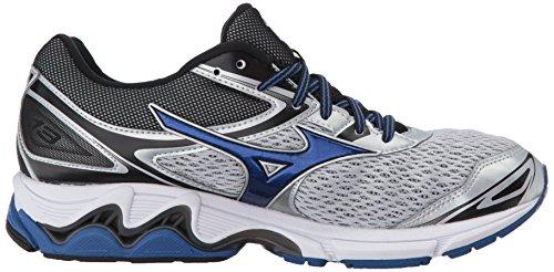 Mizuno Mens Wave Inspire 13 Chaussures De Course Argent / True Blue / Black