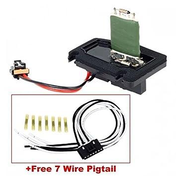 PartsSquare HVAC Blower Motor Resistor 1213510 with Harness RU60 89019101 on
