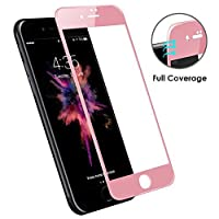 iPhone 7/8 Screen Protector, [3D GLASS] DN-TECHNOLOGY® Edge-to-Edge iPhone 7 Tempered Glass. iPhone 8 Tempered Glass [Compatible With Any iPhone 7/8 Case] ULTRA CLEAR 9H Hardness Tempered GLASS Screen Protector For iPhone 7/8 (ROSE GOLD)