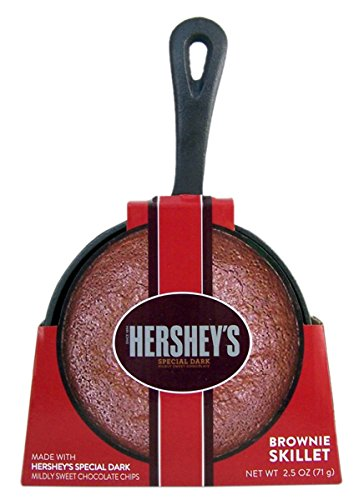 Hershey's Brownie and Cookie Cast Iron Skillet with Brownie Mix, 5 Inch (Special Dark Chocolate Brownie)