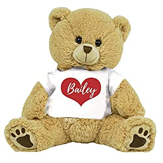 """PaperGala 16"""" Bear Choose Your Color Teddy Bear Personalized Name for Anniversary Birthday Custom Gift for Girlfriend Boyfriend Valentines Day"""