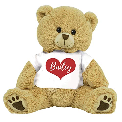 "PaperGala 16"" Bear Choose Your Color Teddy Bear Personalized Name for Anniversary Birthday Custom Gift for Girlfriend Boyfriend Valentines Day"