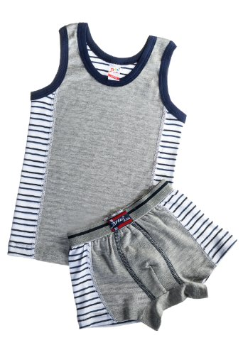 Brix Kids Soft Turkish Cotton Boys Tank Top and Boxer Brief Colorblock Set. 1/2 years - Colorblock Boxer Brief