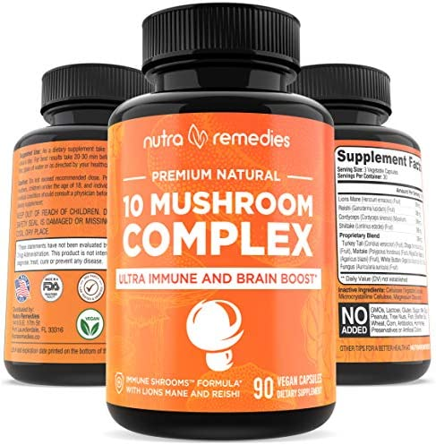 Mushroom Supplement Immunity Energy Booster