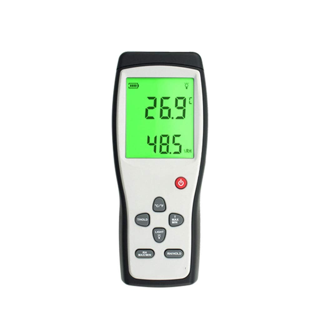 Thermometer and Hygrometer High Precision, Electronic LCD Digital Display Temperature and Humidity Meter Handheld Test,℃/ ℉ Display Min/Max Records K-Type Thermocouple.