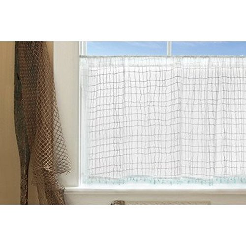 Heritage Lace Seacoast Tier with Trim, 45 by 36-Inch, White by Heritage Lace