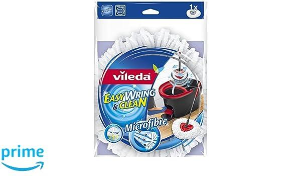 2 x Vileda Easy Wring y limpia microfibra fregona Refill cabeza: Amazon.es: Hogar