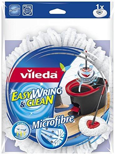2 x Vileda Easy Wring y limpia microfibra fregona Refill cabeza