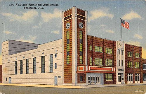 Bessemer Alabama City Hall Municipal Auditorium Antique Postcard ()