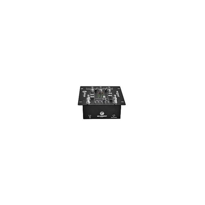 Mesa de mezclas amplificada 2 x 75 W USB/SD/BT – Pantalla LCD + ...