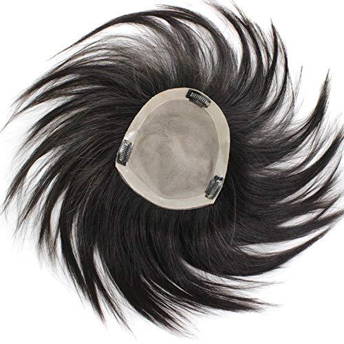 360レースフロントかつら女性未処理人毛プレ摘み取ら絹のようなストレートスタイルブラジルのバージン人毛ウィッグ B07TRSLCCJ Black 13*1530cm