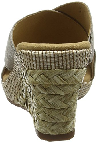 Gabor Shoes Comfort, Sandalias con Cuña para Mujer Marrón (mutaro Bast)