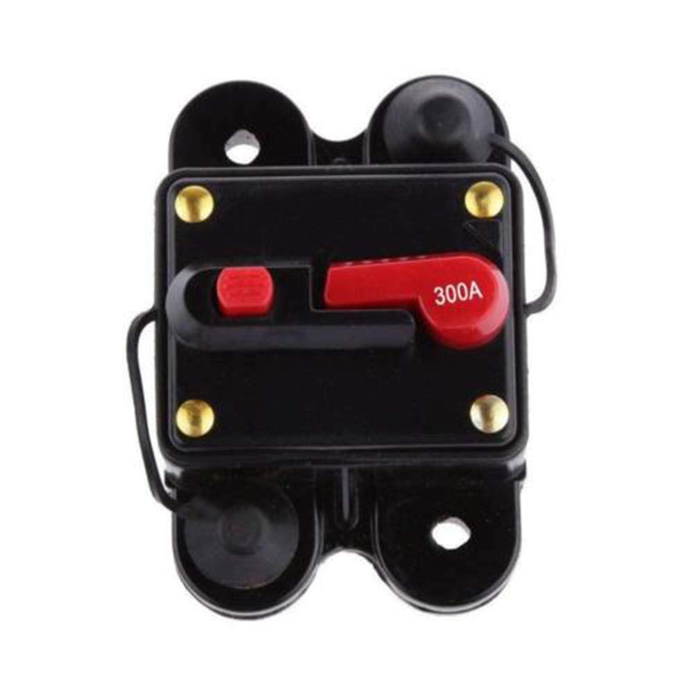 Refaxi DC 12V-24V Car Audio Conversion Automatic Recovery Insurance Bile Double Circuit Breaker Automatic Switch Insurance 300A
