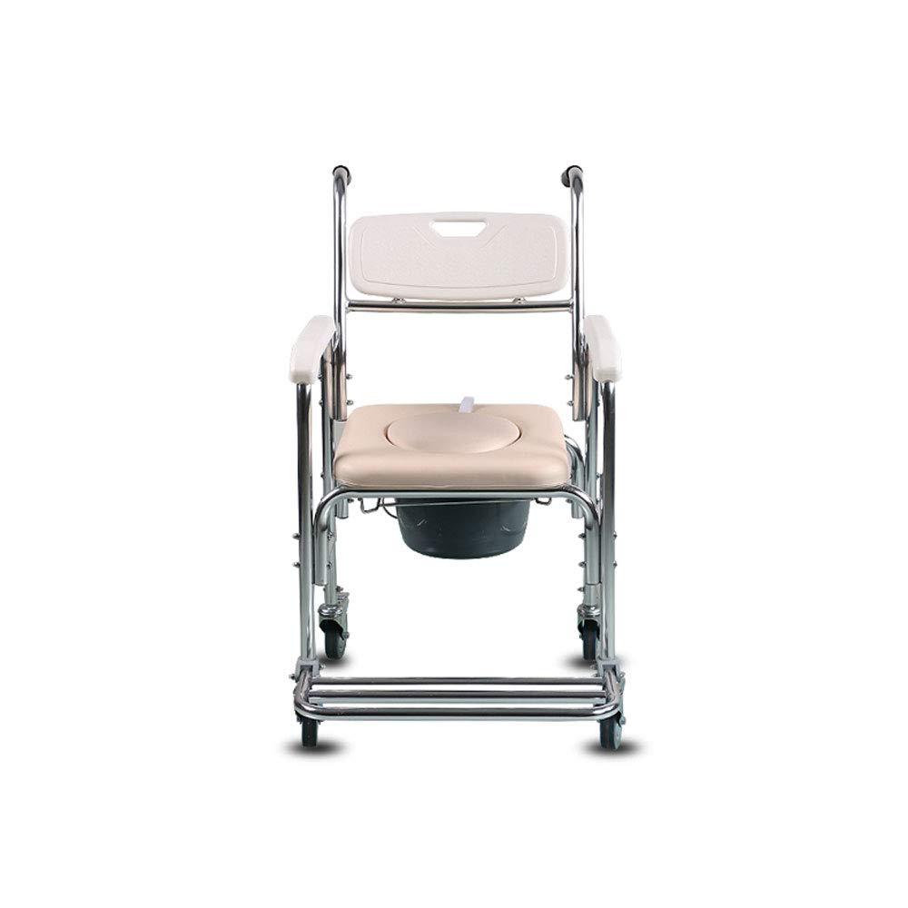 Mrtie Zusammenklappbare Mobile Kommode, Schwangere Frauen, Ältere  Herrenchen, Kinder, Patienten, Universelle Mobile Toilette, Tragbarer Rollstuhl, Badezimmer-Duschstuhl