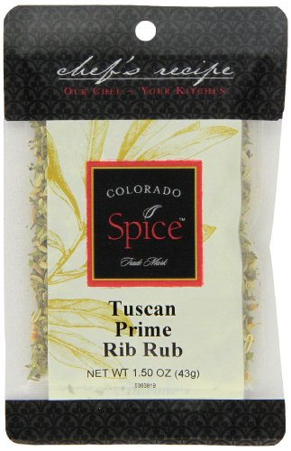 Colorado Spice Company, Beef, Poultry, Pork and Lamb Spice, Tuscan Prime Rib Rub 1.5-Ounce Packet (Pack of (Lamb Ribs)