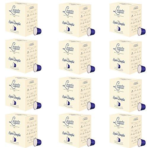 Legato Single Serve Tea Capsules – Nespresso Compatible – 120 Count (English Breakfast)