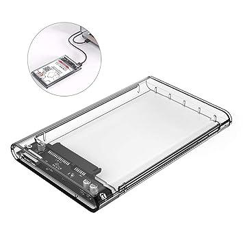 Estuche Transparente para Disco 2,5 Pulgadas SATA A USB 3.0 Caja ...