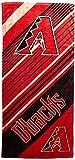 MLB Arizona Diamondbacks Diagonal Beach Towel, 28 x 58-inches