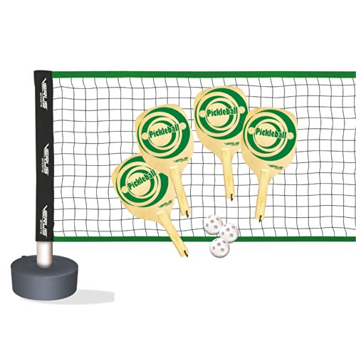 Verus Sports Complete Pickle ball Set (includes net, base, paddles, and balls)