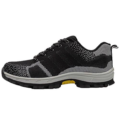 Schwarz Chaussures Coou 3 Chaussure Et Protection Semelle De En S3 Travail Unisexes Sécurité Avec Embout Acier Respirant RLqA54Sc3j