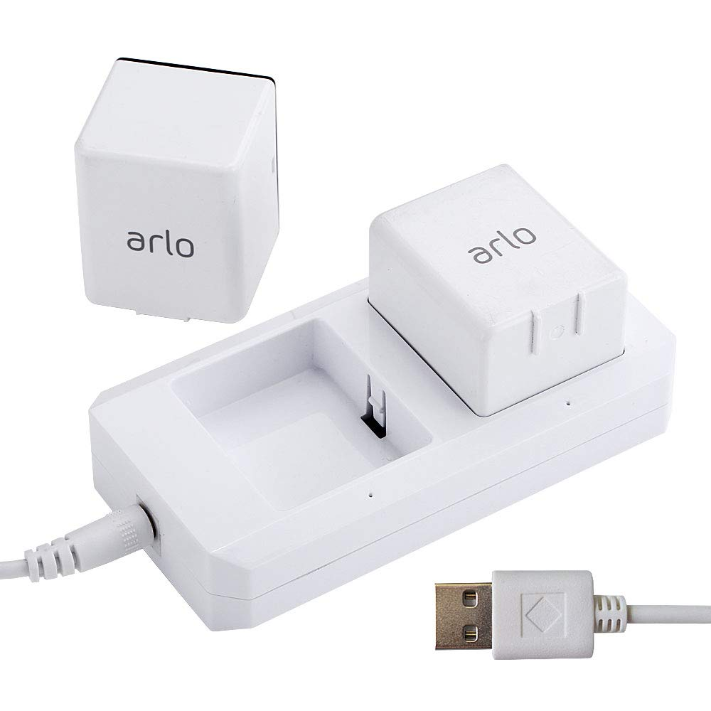 Charging Station for Arlo Batteries Dual Fast Arlo Charger for Arlo Pro & Arlo Pro 2 & Arlo Go & Arlo Security Light VMA4410 Fireproof Material with USB Cable by GoHonor