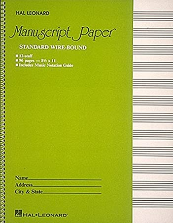 Amazon.Com: Standard Wirebound Manuscript Paper (Green Cover