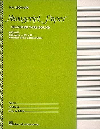 AmazonCom Standard Wirebound Manuscript Paper Green Cover