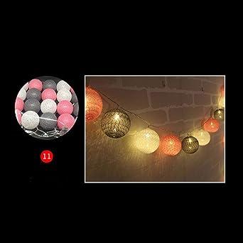 3M LED Bola de algodón Cadena de luz Guirnalda al aire libre Luz ...
