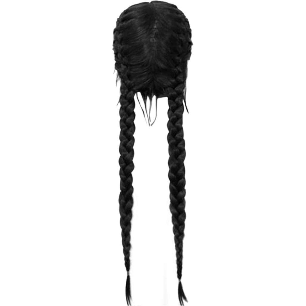 Hair Long Double Straight Big Braided Synthetic Ponytail Fishtail Plaited Synthetic Hair Extensions Hairpiece (28 inches, I)