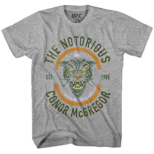 Conor Mcgregor Mens UFC Shirt - The Notorious Mens T-Shirt - UFC Champion (Heather Grey, Large)