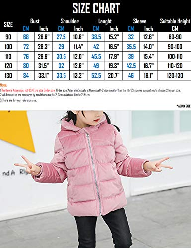 Down Blue Velvet Thick Child BESBOMIG Lightweight Outerwear Winter fit Slim Jacket Coats Fabric Quilted Hooded Puffer Cotton Gold Warm n1xSFR