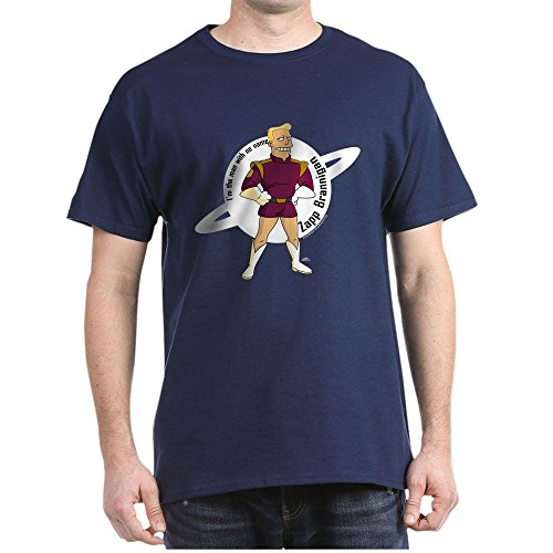 CafePress Zapp Brannigan No Name 100% Cotton T-Shirt Navy -