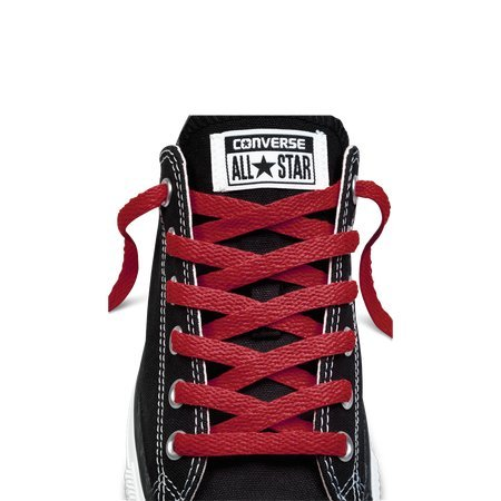 666f9ef614b Amazon.com  Converse Unisex Replacement Cord Shoe Laces Flat Style Shoelaces  (Red