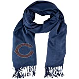 1 Piece Nfl Bears Scarf 70 X 25 Inches, Football Themed Woman Accessory Sports Patterned, Team Logo Fan Merchandise Athletic Team Spirit Fan Navy Blue Orange, Polyester