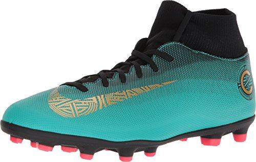 Nike Superfly 6 Club CR7 MG Mens Football Boots AJ3545 Soccer Cleats (UK 9.5 US 10.5 EU 44.5, Clear Jade Vivid Gold 390)