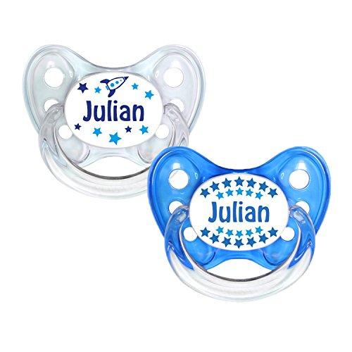 denti Star® Chupete Juego de 2 - nuckel silicona en tamaño 1 ...