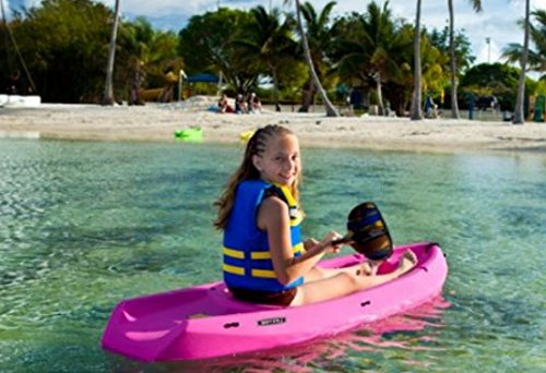 Water Sports Kayaking Deluxe 6' Inflatable Youth Kayak With Paddle,Color Pink, Sporting Goods