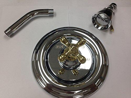 American Standard 7212SS.720.299 Hampton Pressure Balance Shower Only - Chrome/Brass (Hampton Pressure Balance Shower)