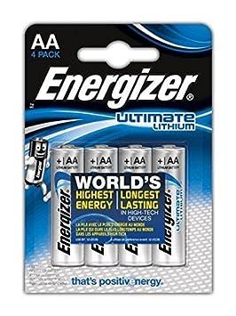 Piles AA Energizer Ultimate Lithium, Pack de 4
