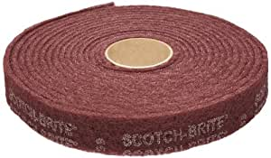 """3M Scotch-BriteTMCleaning & Finishing Rolls - Size: 3"""" x 30' Grade: A VFN Color: Maroon"""