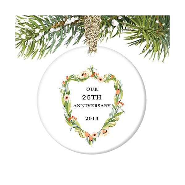 25th Wedding Anniversary Gifts For Wife: 25th Wedding Anniversary Gift Ornament 2019 Christmas 25