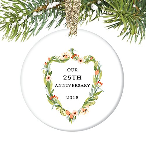 Gifts For Wedding Anniversaries For Each Year: 25th Wedding Anniversary Gift Ornament 2019 Christmas 25